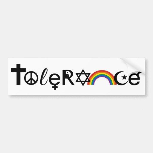 Coexist With Tolerance Png Bumper Sticker Zazzle