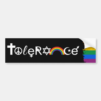 COEXIST WITH TOLERANCE -.png Bumper Sticker