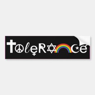 COEXIST WITH TOLERANCE -.png Car Bumper Sticker