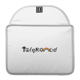 COEXIST WITH TOLERANCE -.png Sleeves For MacBook Pro