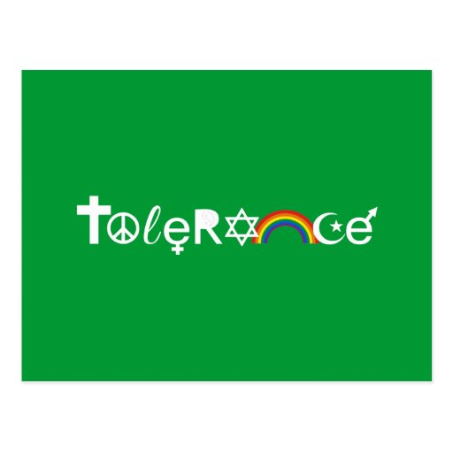 COEXIST WITH TOLERANCE POSTCARD