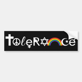 COEXIST WITH TOLERANCE WHITE -.png Car Bumper Sticker
