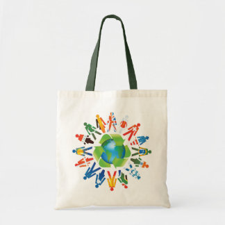 Coexist & World Peace Go Green Tote Bag