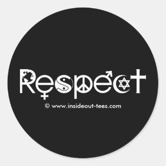 Coexista con los pegatinas del respecto etiqueta redonda