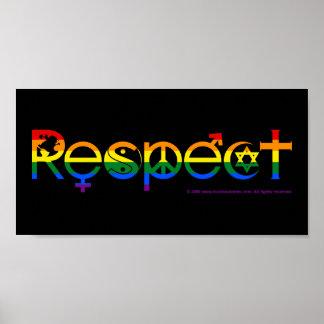 Coexista con orgullo gay del respecto póster