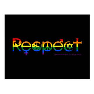Coexista con orgullo gay del respecto tarjetas postales