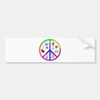Coexistencia pacífica pegatina de parachoque