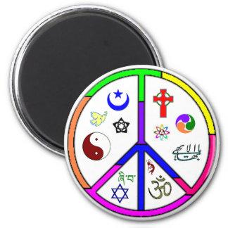 Coexistencia pacífica imán redondo 5 cm
