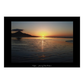 Cofete sunset endless beach poster