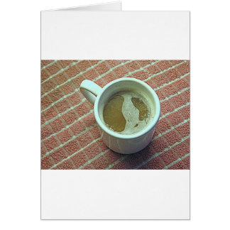 Coffe cup card