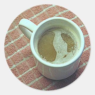 Coffe cup classic round sticker