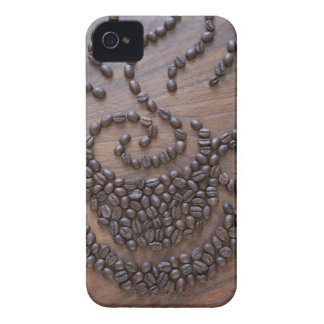 Coffe cup illustrated using coffee beans Case-Mate iPhone 4 case