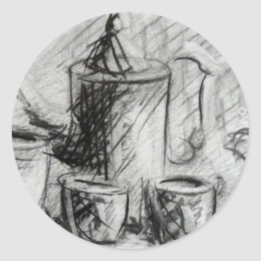 Coffe designed by Adrian Dica Classic Round Sticker