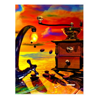 coffe dream by Lenny art Postcard