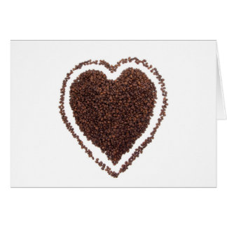 Coffe Lover Heart Gift Present Marriage Unique Card