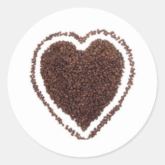 Coffe Lover Heart Gift Present Marriage Unique Classic Round Sticker
