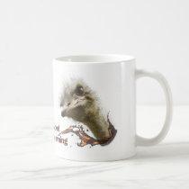 Coffe mosquito with ostrich plashing coffee coffee mug