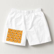 Coffe mug pattern in mustard yellow boxers