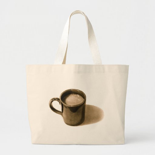 COFFE MUG: PENCIL REALISM: SEPIA BAGS