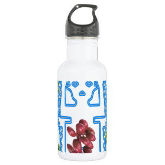 COFFE, SEED SPIRITS, LIGHT BLUE,  CUSTOMIZABLE STAINLESS STEEL WATER BOTTLE