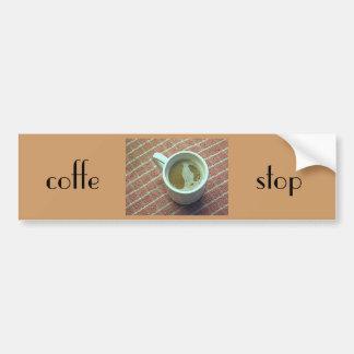 Coffe stop car bumper sticker