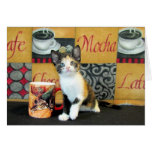 Coffe, Tea, or Meow - Leilani Greeting Cards