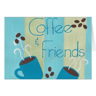Coffe y amigos tarjeta pequeña
