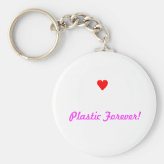 Coffee1, Plastic Forever! Basic Round Button Keychain