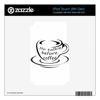 coffee22 decal for iPod touch 4G