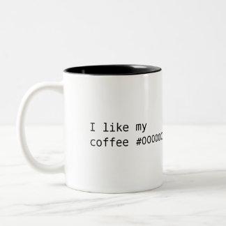 Coffee #000000 Two-Tone coffee mug