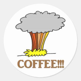 coffee-01 pegatinas redondas