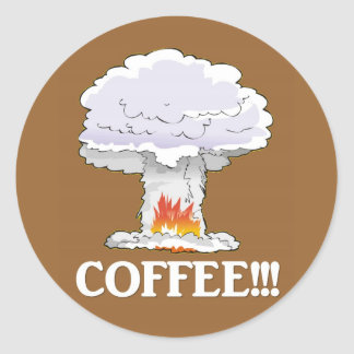 coffee-02 classic round sticker
