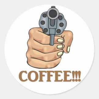 coffee-03 etiquetas redondas