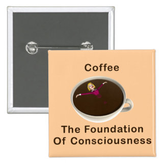Coffee 2 Inch Square Button