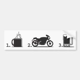 coffee, 2wheels, & beer - bumper sticker