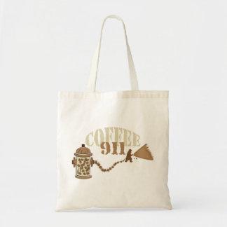Coffee 911 budget tote bag