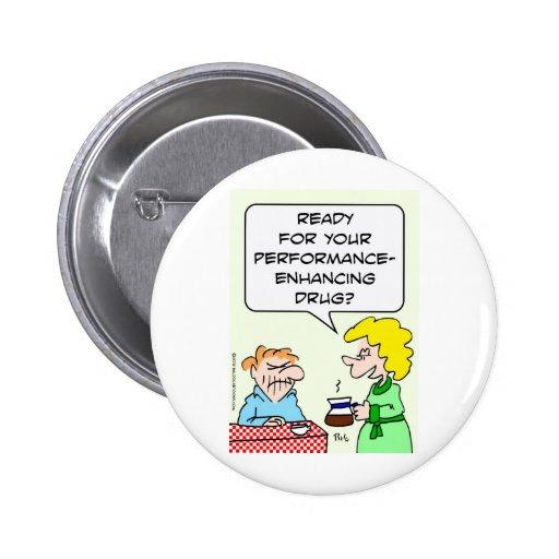 Coffee, a performance-enhancing drug pin