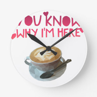 Coffee AA Anonymous Drunk Fellowship Round Clock