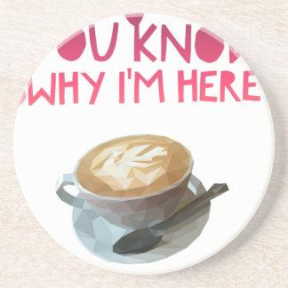 Coffee AA Anonymous Drunk Fellowship Sandstone Coaster