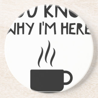 Coffee AA Anonymous Drunk Fellowship Sandstone Coaster