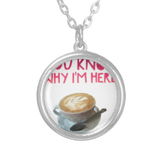 Coffee AA Anonymous Drunk Fellowship Silver Plated Necklace