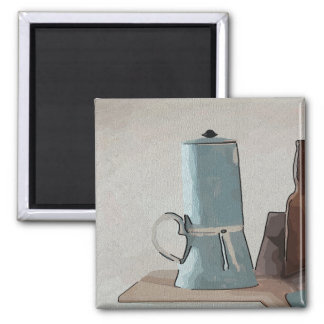 Coffee Abstract Still Life Magnet