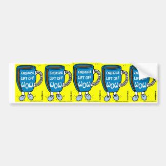 Coffee Accelerator WOW Dancing Mug Bumper Sticker