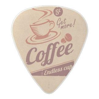 Coffee Acetal Guitar Pick