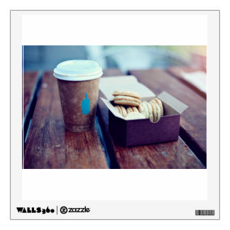 Coffee ad cookies wall sticker