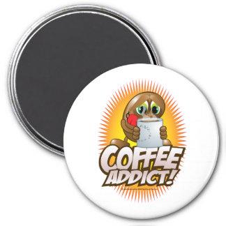 Coffee Addict! 3 Inch Round Magnet