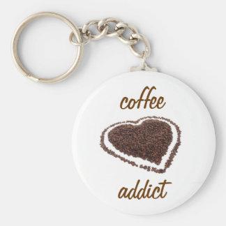 Coffee Addict Basic Round Button Keychain