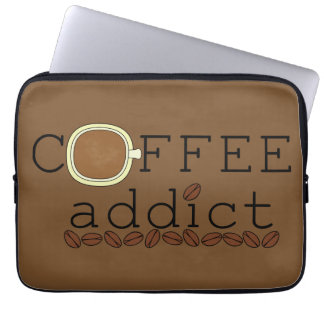 Coffee Addict Beans - Choose Color Laptop Computer Sleeves