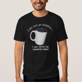 Coffee Addict Black T-shirt style 2