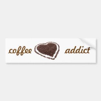Coffee Addict Car Bumper Sticker